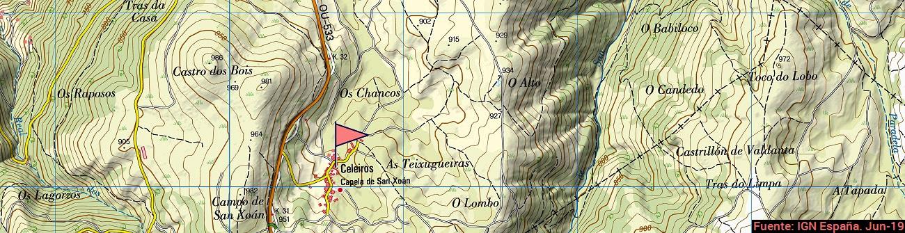 Celeirós-Mapa